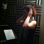 Niamh in the booth